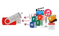 USB Card Na Twoje pamięci USB możemy wgrać prezentacje, katalogi, filmy, pliki muzyczne lub wszelkie inne materiały promocyjne.